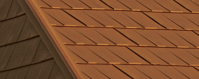 Classic Copper Wakefield Bridge Steel Shingles