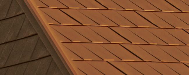 Classic Copper Wakefield Bridge Steel Shingles