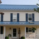 Steel Roof in Blue