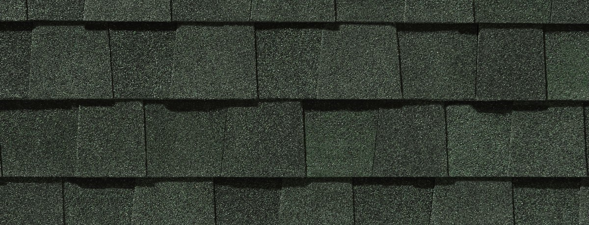MaxDefHunterGreenCertainTeedRoofingShingle