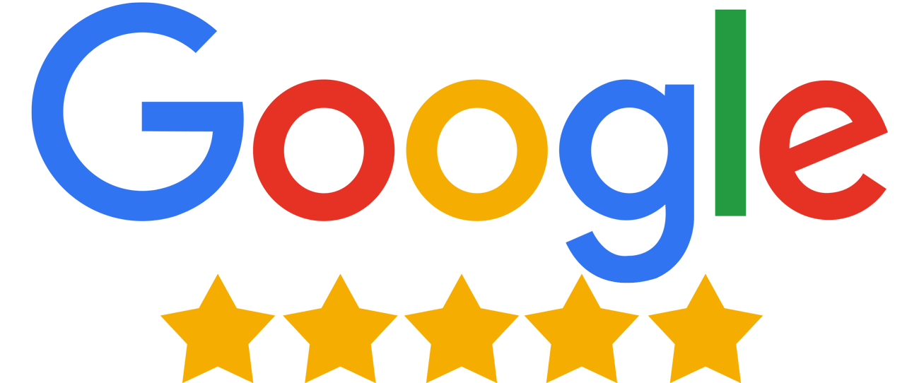 Google Logo, 5 stars rating