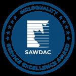 Siding & Window Dealer's Association of Canada blue medal award for service excellence