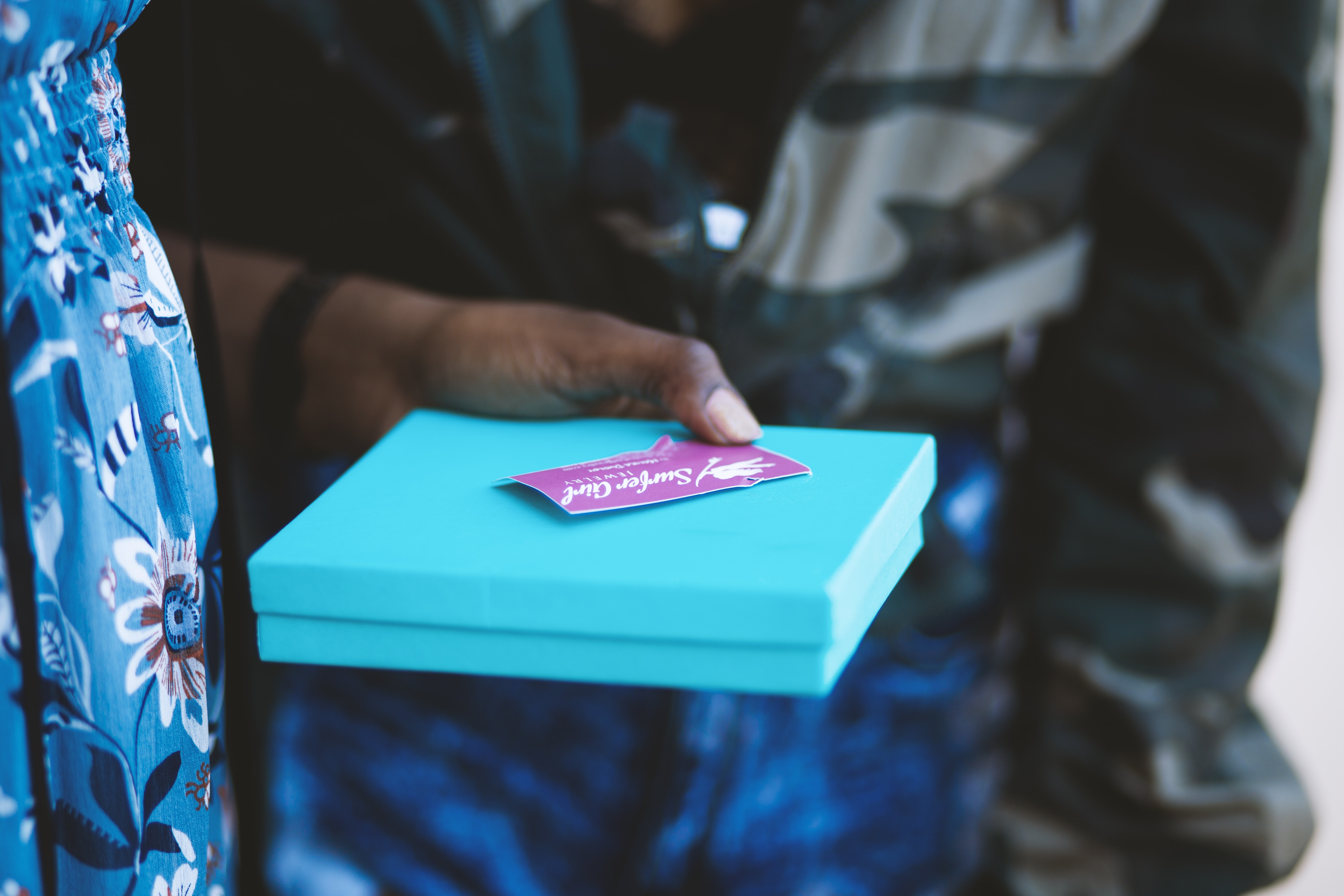 blue box gift giving