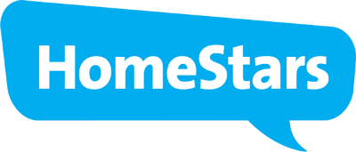 HomeStars Blue Speech bubble Logo