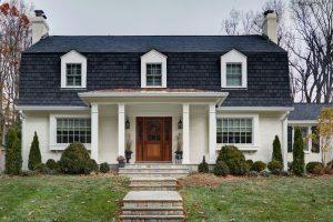 mansard roof house