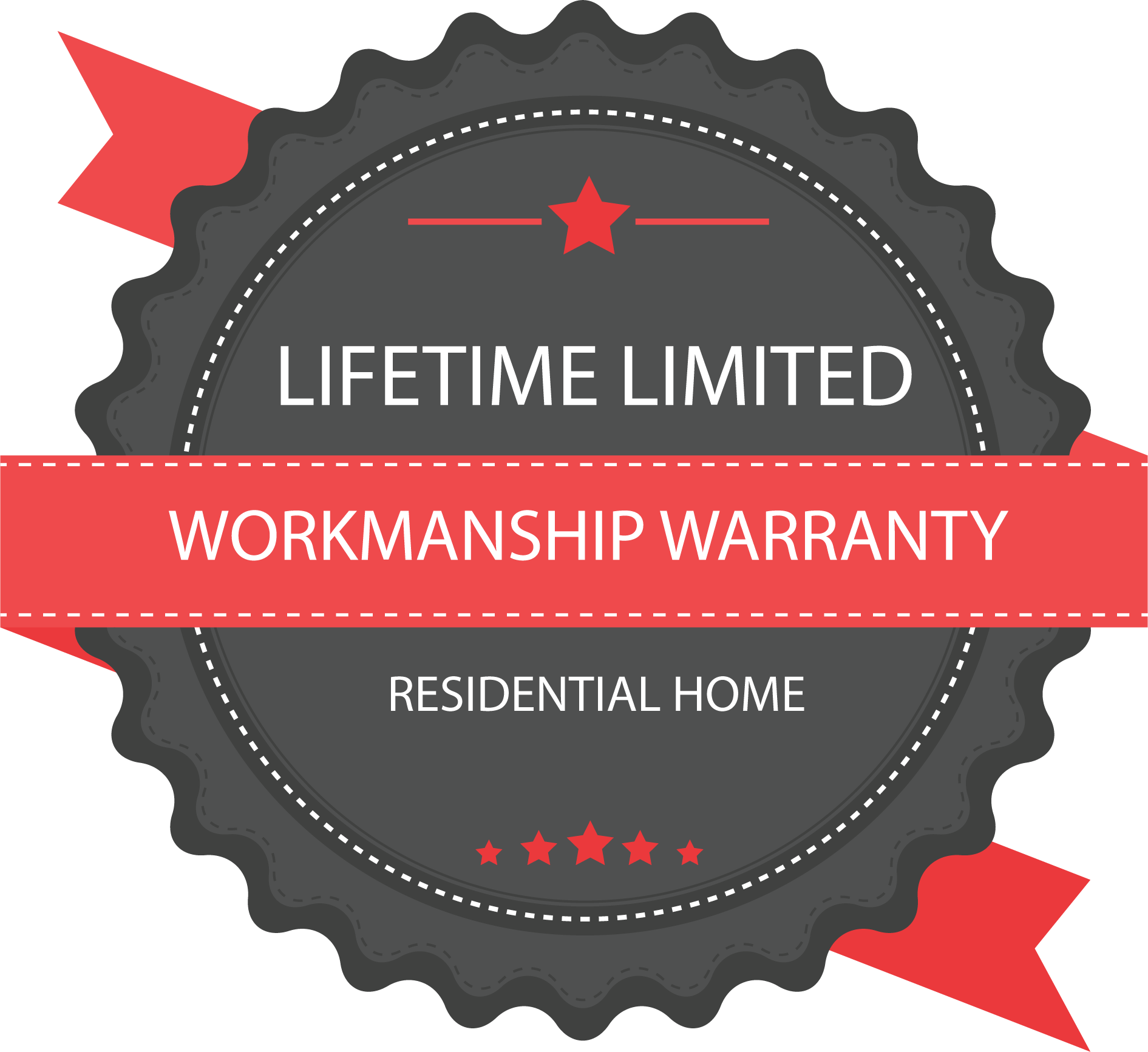 1st Choice Home Solution's Limited Lifetime Warranty Workmanship Badge