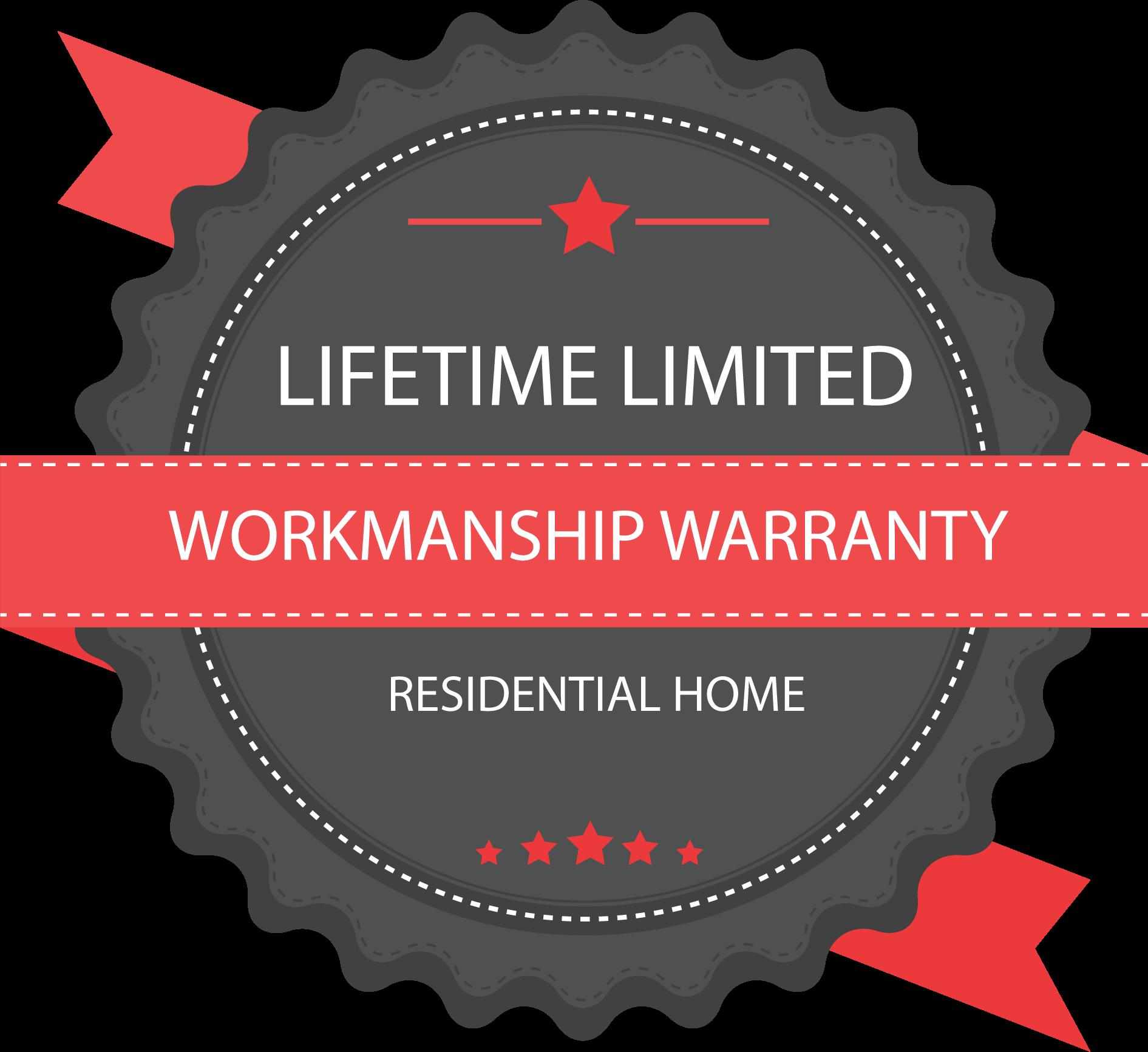 1st Choice Home Solution's Limited Lifetime Warranty Workmanship Badge