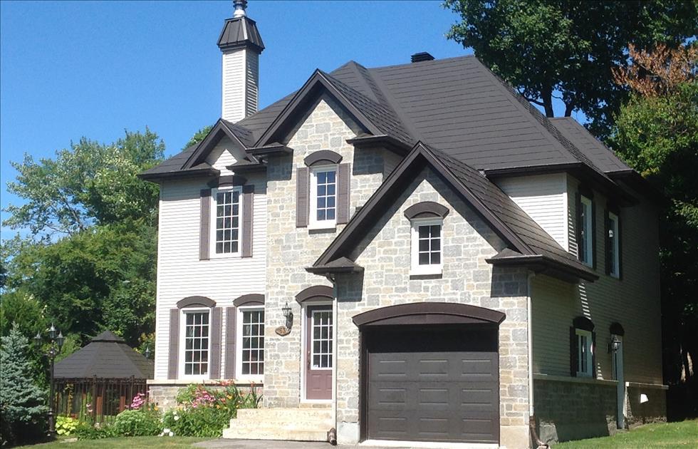 Two Storey House, Traditional European Style, Metal Shingles, Wakefield Bridge Steel Roofing