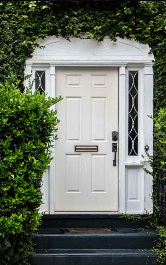 4 Panel Entry Door, White