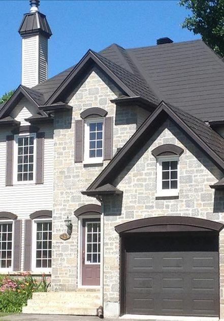 Two Storey House, Traditional European Style, Metal Shingles, Wakefield Bridge Steel Roofing, Black colour