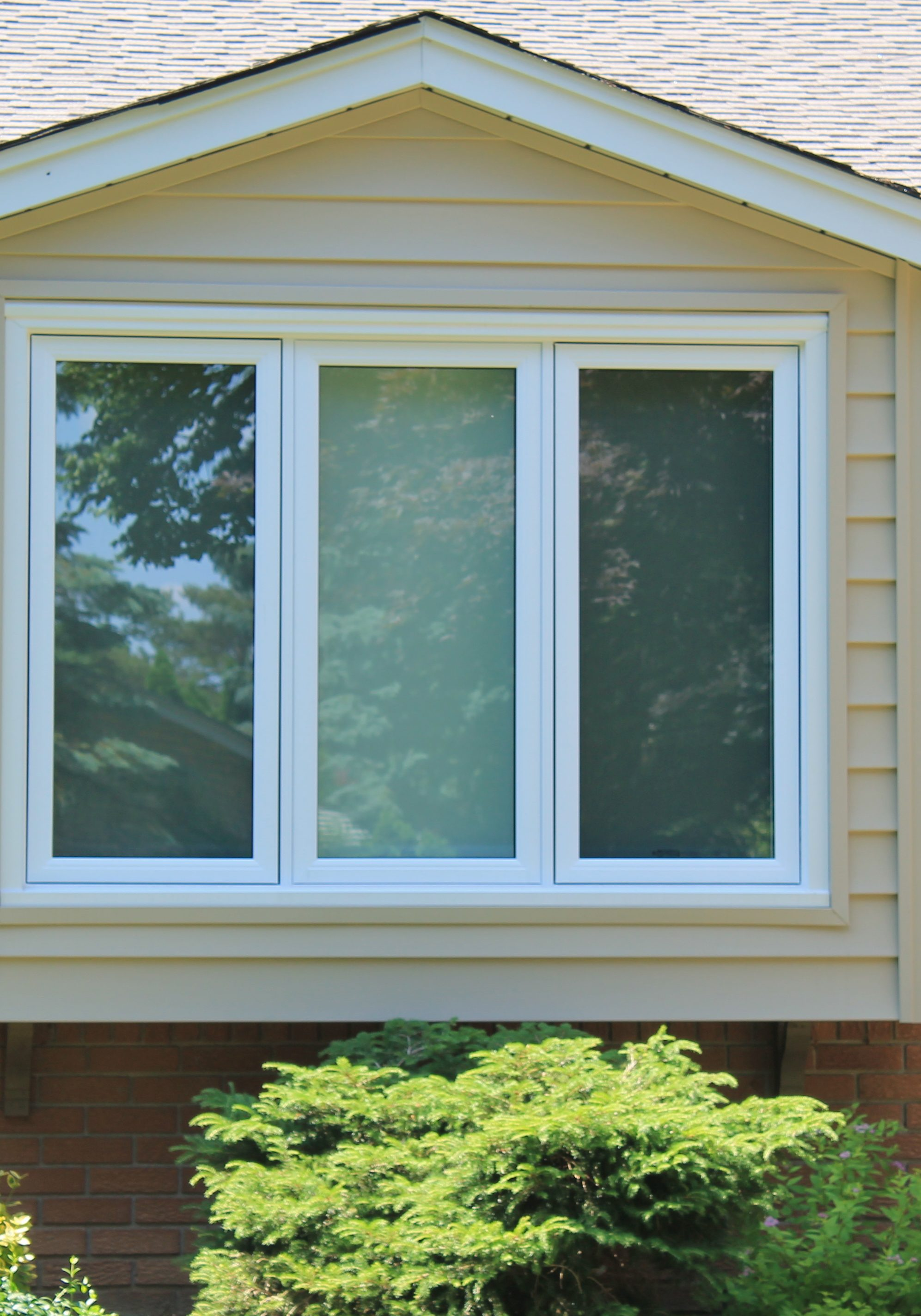 Casement Window capped in White