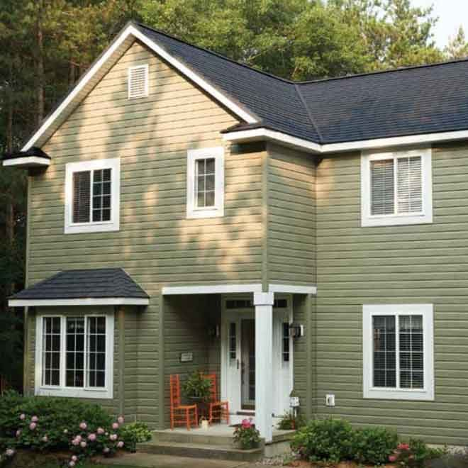 CertainTeed Matterhorn Slate Metal Roofing in Storm Slate Colour cropped