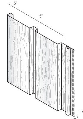 D5 Vertical Board & Batten Profile Vinyl Siding KayCan
