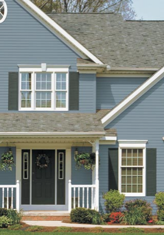 DaVinci Vinyl Siding in Midnight Blue