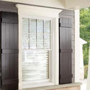 Kaycan shutters planked