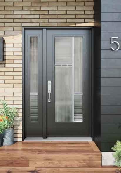 Novatech Steel Entry Door - Uno Style Assau glass