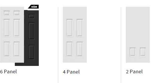 Novatech Steel entry Door - 6 Panel, 4 Panel, 2 Panel