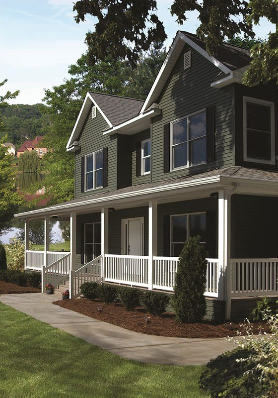 Richmond-Evergreen vinyl siding kaycan