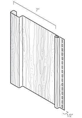 Vertical Board & Batten Profile Vinyl Siding Woodgrain