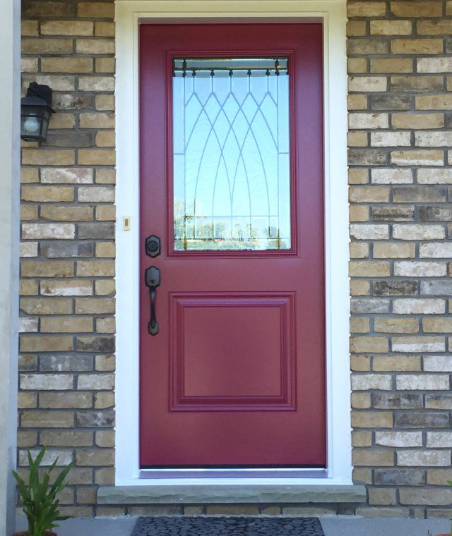 Crushed Velvet Door with white capping
