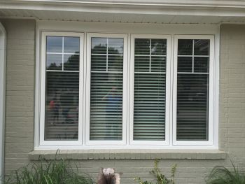 Casement and Fixed Windows with Grill Design on top portion